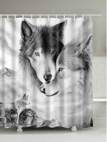 słodka zasłonka prysznicowa w wilki. Szczegóły KLIK na zdjęcie;)