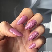 Sweterkowe hybrydowe paznokcie <3