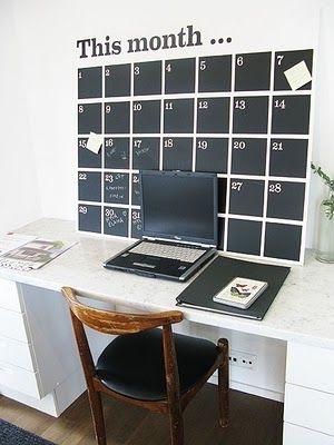 farba tablicowa i masz kalendarz przed oczami