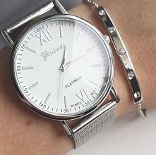 Piękny zegarek w kolorze srebra.klasyczny i bardzo elegancki. Tylko 24,99zł. ...