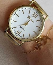 Piękny złoty zestawik. Zegarek -> 24,99zł Bransoletka origami stal 316:- 29,99zł Zapraszamy na FB -> Trendy Lady - biżuteria, galanteria i dodatki