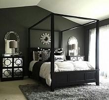 Sypialnia :) czerń i biel