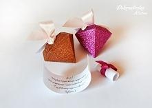 Pudełeczka diamenty z prośbą o świadkowanie:)