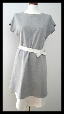 Sukienka dresowa, z dosztą ...