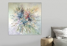 Malarstwo - obraz 100x100 cm, farby akrylowe