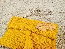 Mini Bag. Torba wykona ana drutach z podszewką. Co myślicie?