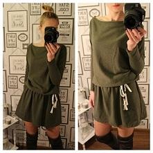 Genialna sukienka w militarnym stylu tylko u pativip