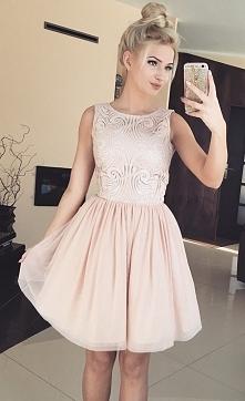 Cielista sukienka nude