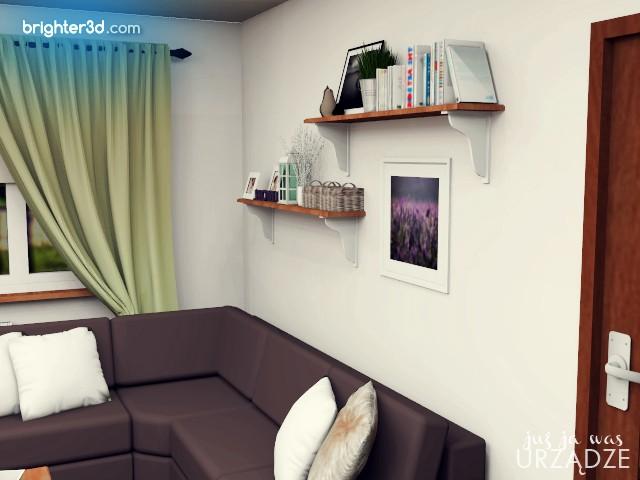 Półki Diy Projekt Salonu W Stylu Prowansalskim