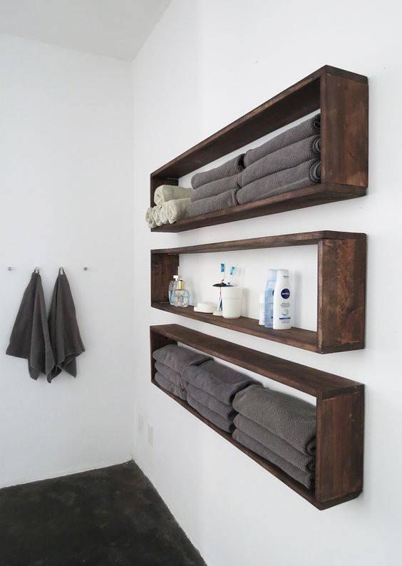 półki w łazience