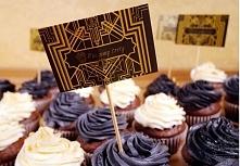 Cupcakes w stylu gatsby.