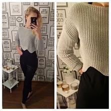 Rewelacyjny krótki sweterek o niepowtarzalnym kroju tylko u pativip