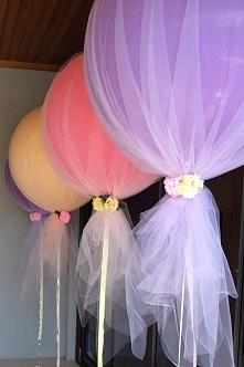 efektowna dekoracja z balonami