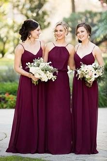 Bordowa sukienka dla druhny