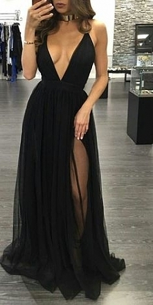 Czarna maxi dress