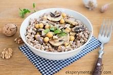 kasza gryczana z pieczarkami - kasza gryczana na obiad / Buckwheat with Mushrooms and Chickpea