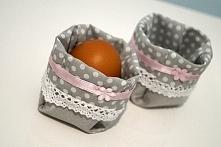 """ozdoba na stół wielkanocny """"tekstylne koszyczki na jajka"""", więcej info na priv: joyfulworks4you@gmail.com"""