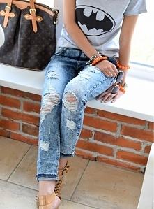 Jeansowe spodnie MARMO scuro. Genialne, jeansowe spodnie w stylu boyfriend.  ...