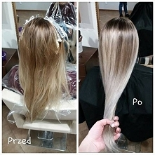 Efekt końcowy wizyty u fryzjera:)