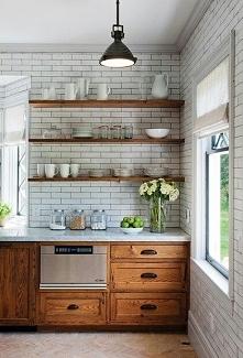 drewniane fronty, retro kuchnia :)