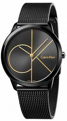 Calvin Klein K3M214X1 męski zegarek w kolorze czarnym na bransolecie siatkowe...