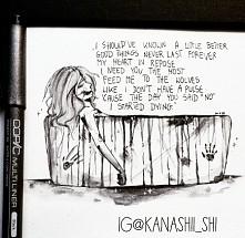 kolejny rysunek zainspirowany piosenką Social Repose - Filthy Pride <3