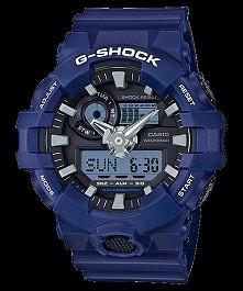Casio GA-700-2AER G-shock męski sportowy zegarek w kolorze niebieskim, wodoodporny, odporny na wstrząsy oraz wielofukcyjny m.in. kalendarz, alarm, stoper.. :) Więcej na naszej s...