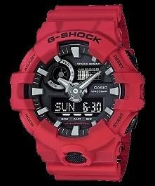 Casio GA-700-4AER Gshock męski sportowy zegarek w kolorze czerwonym. odporny na wstrząsy, wodoodporny 20 ATM oraz wielofunkcyjny, idealny dla aktywnych :) Więcej na naszej stron...