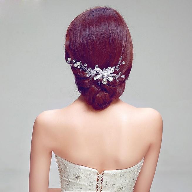 Luksusowe Suknie Ślubne Moda Nakrycia Rhinestone / Flower Head / Ślubne Akcesoria Do Włosów / Biżuteria Ślubna / Girlanda