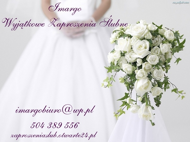 Zapraszam Allegro Imargoo Zaproszeniaslubotwarte24pl Na