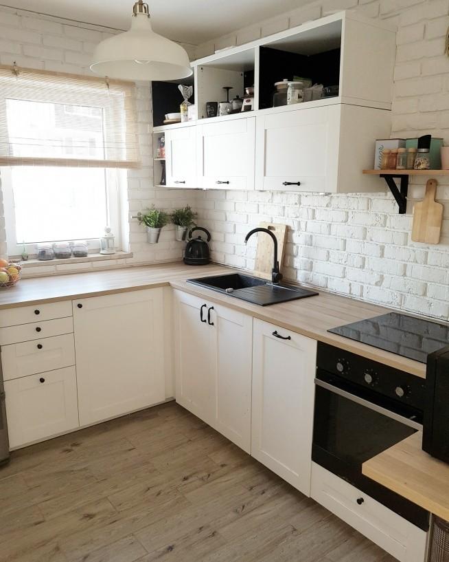 bia�a ceg�a w kuchni na wymarzone wnętrza zszywkapl