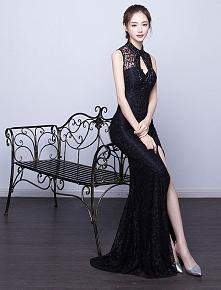 c1b6a9bbf9 Sexy Syrenka Suknia Wieczorowa 2017 Bez Pleców Czarna Sukienki Wizytowe
