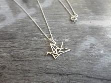 """Żuraw - """"Ptak Szczęścia"""" srebro 925. me.she.bizuteria@gmail.com"""
