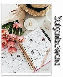 Jestem... Zorganizowana! A najlepszym sposobem na to są urocze kalendarze, w których aż chce się zapisywać ważne spotkania!