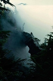 Bridge into the clouds, Mt ...