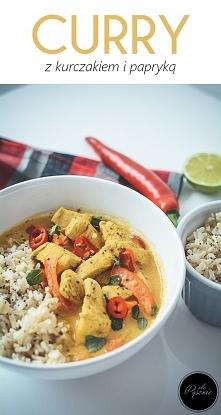 Curry z kurczakiem i papryk...