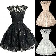 Koronkowa sukienka :)