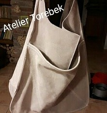 worek hobo skóra naturalna pracownia kaletnicza Fb/ Atelier Torebek wysyłka 24h