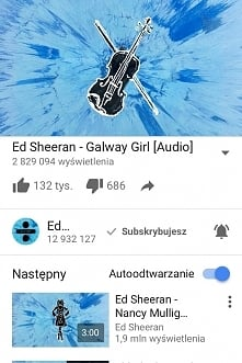 ED SHEERAN - GALWAY GIRL, PERFECT ORAZ NANCY MULIGAN TO ZŁOTO I DIAMENTY