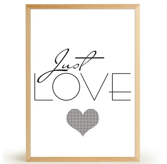 Plakat JUST LOVE