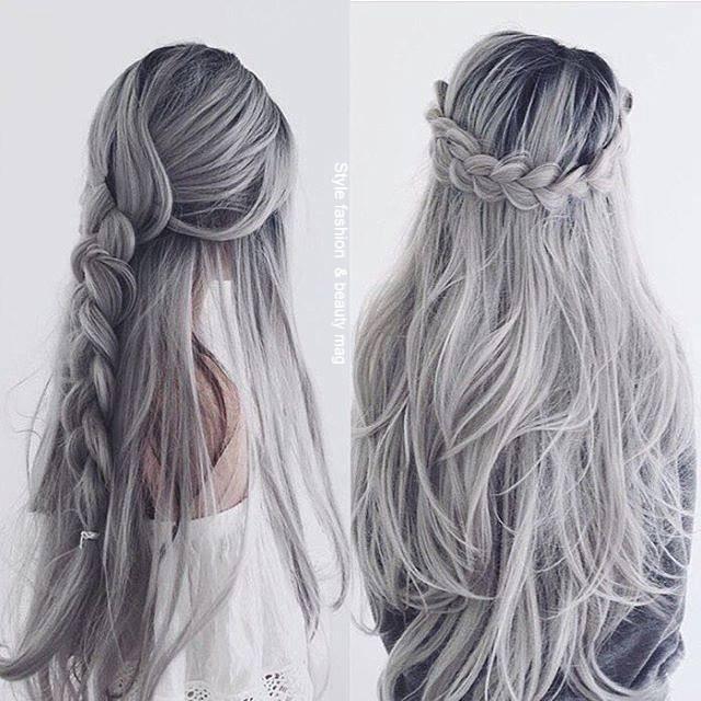 Siwe Włosy Kliknij W Zdjęcie Aby Zobaczyć Więcej Na
