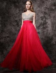 da210ef9d2 2016 Świecący Cekiny Wycięciem Bez Pleców Czerwona Szyfonowa Sukienka Na Bal