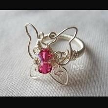 pierścionek motylek
