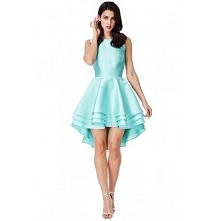 Asymetryczna miętowa sukien...