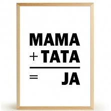 Plakat MAMA+TATA=JA