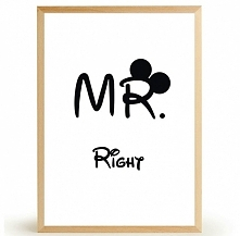 Plakat MR RIGHT