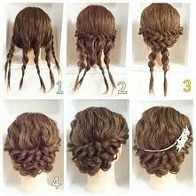 Ciekawy pomysł na fryzurę w kilka chwil