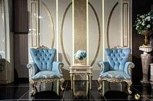 Ekskluzywne fotele i stolik kawowy Gloria