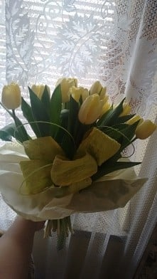 18 tulipans for 18 birthday