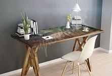 Oryginalna naklejka na biurko lub stół z abstrakcyjnym wzorem pomoże Ci podarować meblom drugie życie!